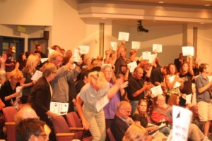 Highly vocal participants made their feelings known on both sides of Oceanside City Council meeting to discuss proposed ban on retail puppy sales / Photo: Katerina Lorenzatos Makris