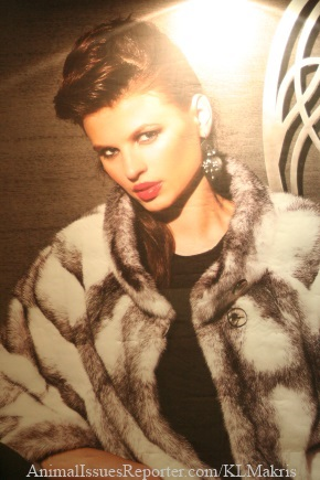 Poster at Athens Fur Fair 2012 Photo: Katerina Lorenzatos Makris