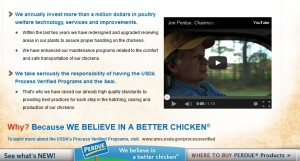 Perdue invests millions of dollars in animal welfare efforts, according to information on Perdue's website Photo: screen shot from Perdue website